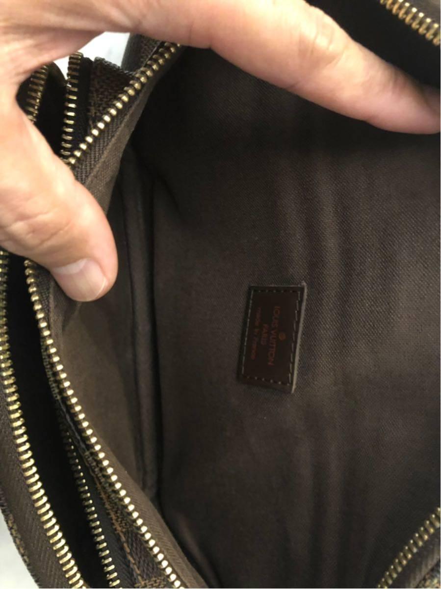 美品 正規品 Louis Vuitton ヴィトン バムバッグ メルヴィール ダミエ ウエストポーチ ポシェット ショルダーバック_画像8