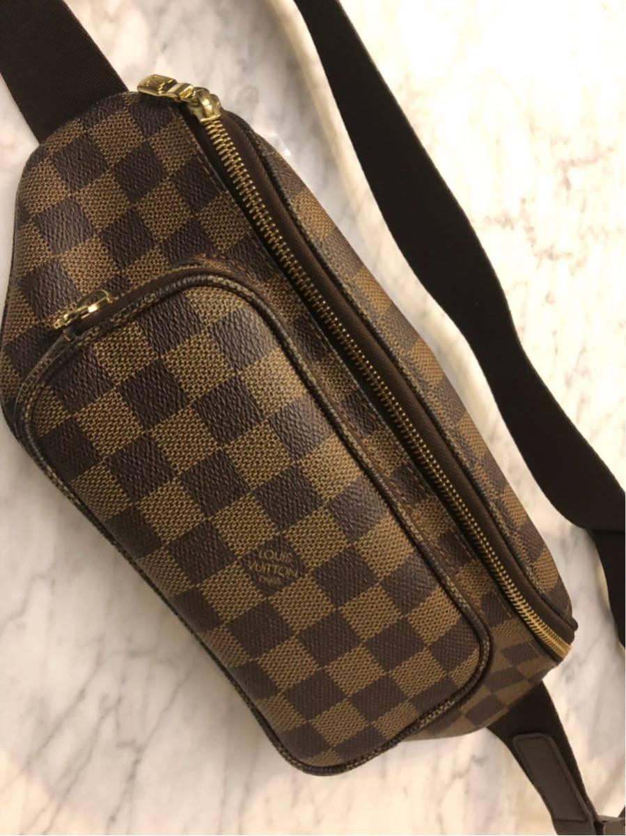 美品 正規品 Louis Vuitton ヴィトン バムバッグ メルヴィール ダミエ ウエストポーチ ポシェット ショルダーバック