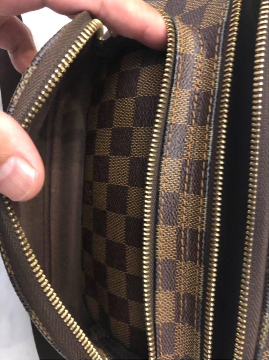 美品 正規品 Louis Vuitton ヴィトン バムバッグ メルヴィール ダミエ ウエストポーチ ポシェット ショルダーバック_画像6