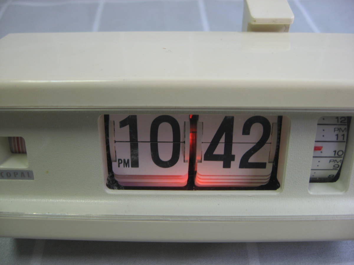 【昭和レトロ】COPAL コパル パタパタ時計 227 白 60Hz 中古動作品 送料無料_画像2