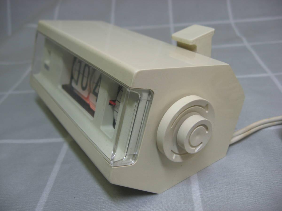 【昭和レトロ】COPAL コパル パタパタ時計 227 白 60Hz 中古動作品 送料無料_画像3