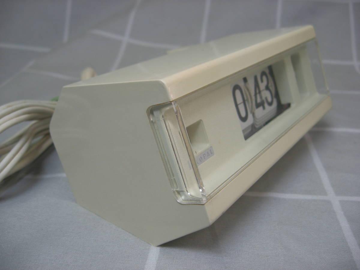 【昭和レトロ】COPAL コパル パタパタ時計 227 白 60Hz 中古動作品 送料無料_画像4