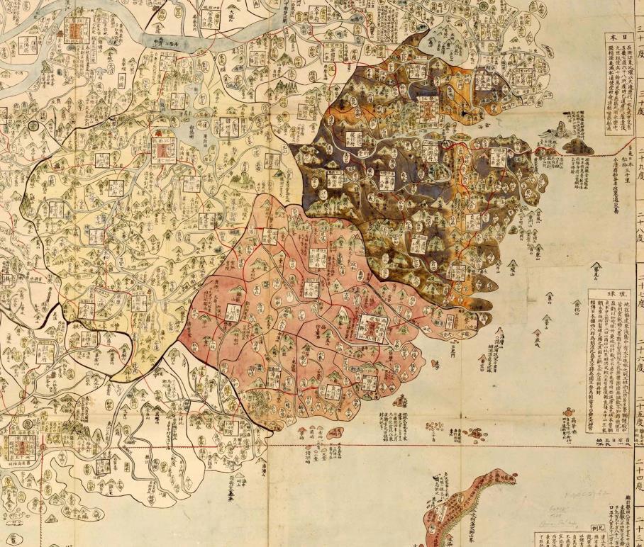 珍藏 古美術 時代物 古地図 【大清広輿図】旧藏 ・手巻・本国発送_画像6