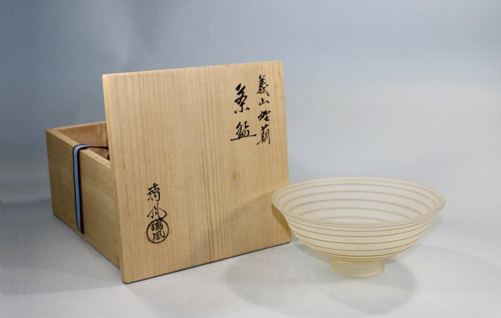 茶道具 義山野薊茶碗 山下璃風作◆se15
