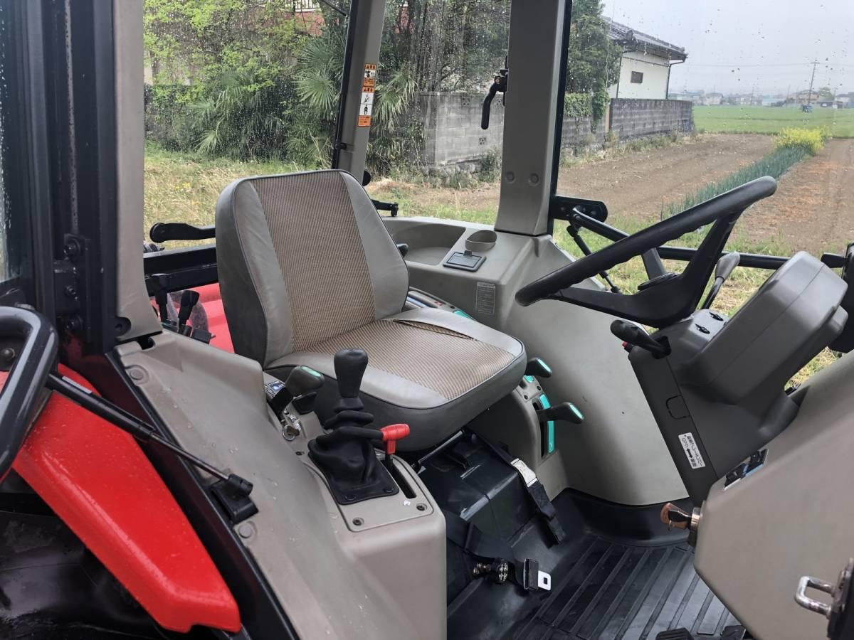 ヤンマー トラクター US545 エコトラ エアコンキャビン付き 45馬力 4WD 外部油圧取出口2系統 前輪新品タイヤ_画像5