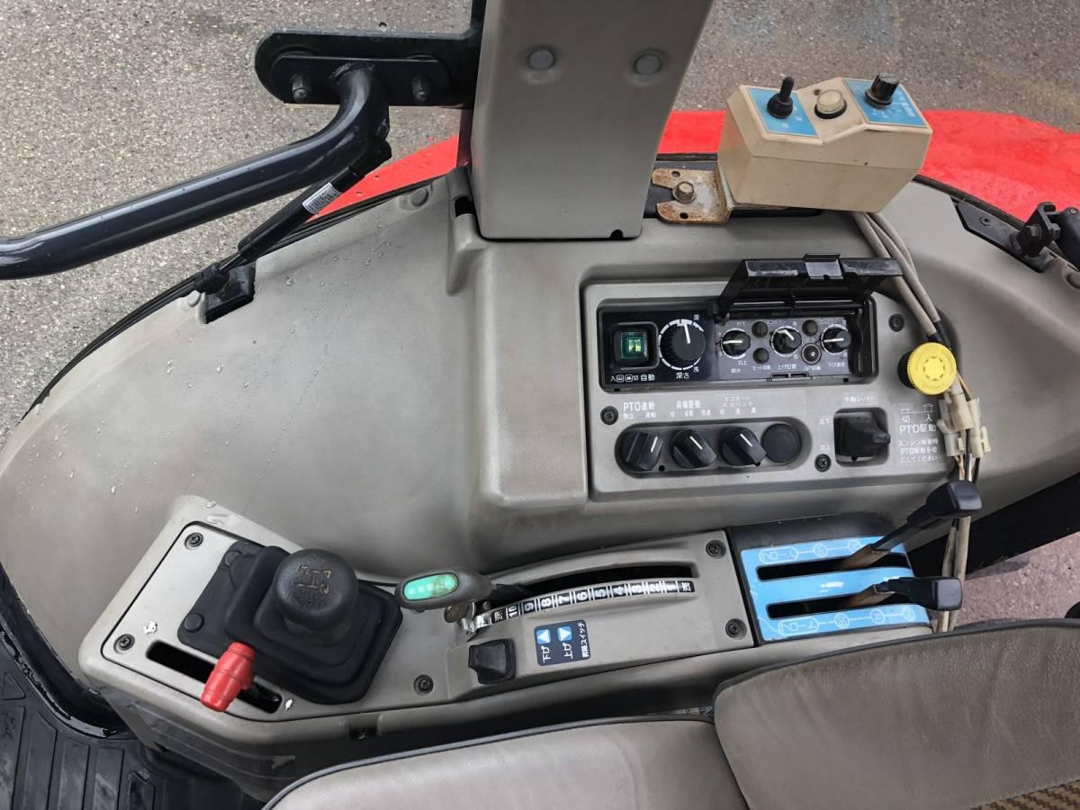 ヤンマー トラクター US545 エコトラ エアコンキャビン付き 45馬力 4WD 外部油圧取出口2系統 前輪新品タイヤ_画像7