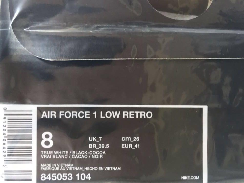 NIKE AIR FORCE 1 LOW RETRO COCOA SNAKE 26.0cm ナイキ エアフォース1 白蛇 ココア スネーク 18aw supreme シュプリーム シール付 nike 25_画像7