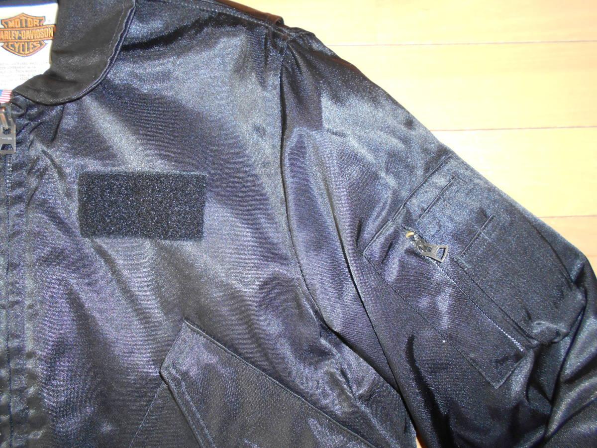 ★HARLEY-DAVIDSON CWU-55Pフライトジャケット アメリカ製★黒sizeM★_画像5