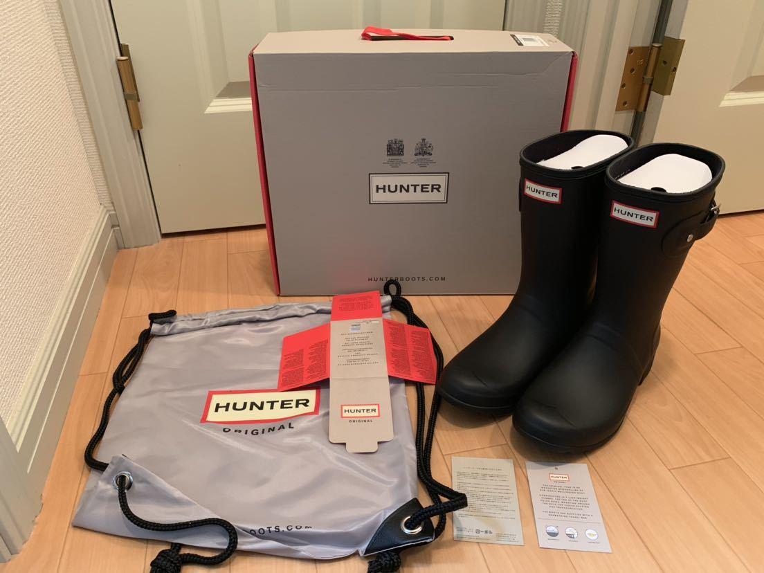 26cm HUNTER ORIGINAL TOUR SHORT BLACK ハンター ショート レイン ブーツ 長靴 黒 26cm UK7 US9 EU40/41 新品