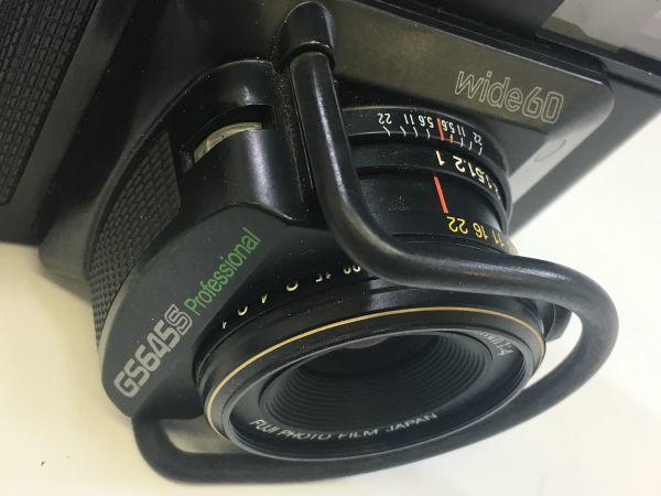 M503-55/富士フィルム FUJI GS645S Professional 6x4.5 EBC FUJINON W 60mm 1:4 中判カメラ ★中古_画像8