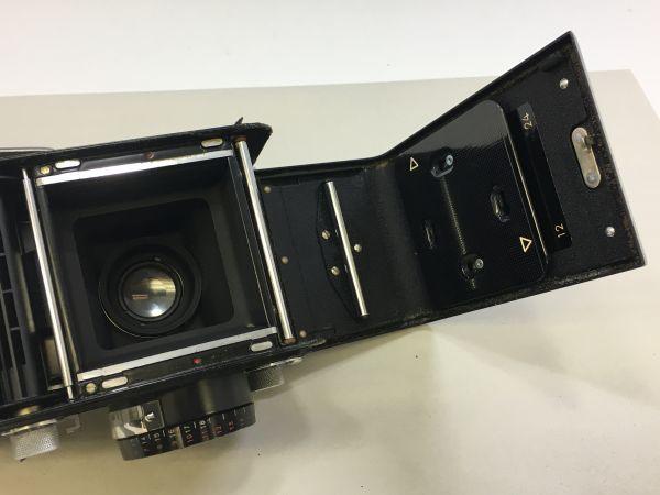 M504-47/SY3000 ミノルタ MINOLTA AUTOCORD cds オートコードⅢ ROKKOR 1:3.5 f=75mm 《ケース付》★中古カメラ ニ眼_画像6
