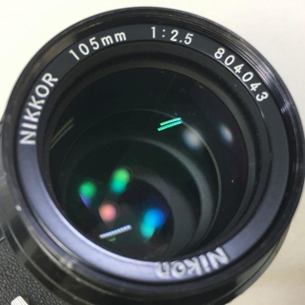 M504-50/SY10000 ニコン Nikon F NIKKOR 1:2.5 105㎜ 一眼レフ ★中古カメラ マニュアルカメラ フィルムカメラ_画像8