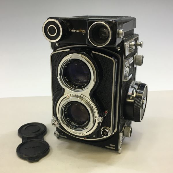 M504-47/SY3000 ミノルタ MINOLTA AUTOCORD cds オートコードⅢ ROKKOR 1:3.5 f=75mm 《ケース付》★中古カメラ ニ眼