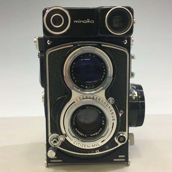 M504-35/SY3000 ミノルタ MINOLTA オートコードⅢ AUTOCORD ROKKOR 1:3.5 f=75mm 《ケース付》★中古カメラ ニ眼_画像2