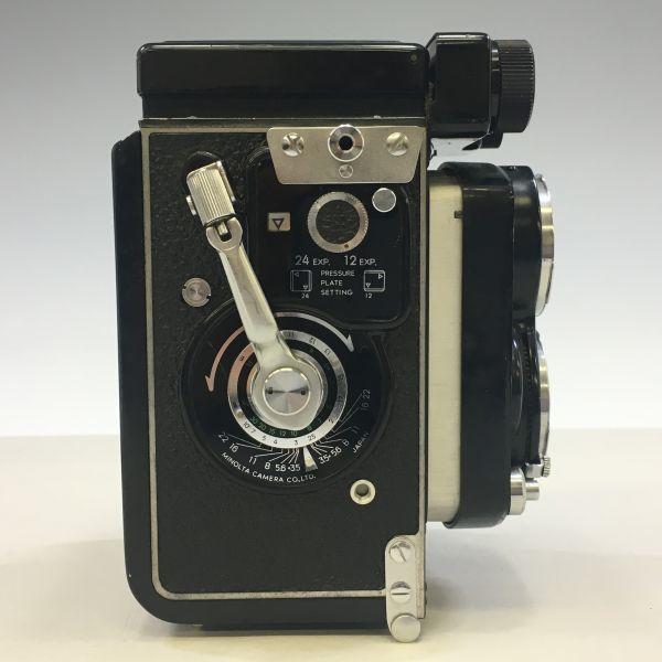 M504-35/SY3000 ミノルタ MINOLTA オートコードⅢ AUTOCORD ROKKOR 1:3.5 f=75mm 《ケース付》★中古カメラ ニ眼_画像8