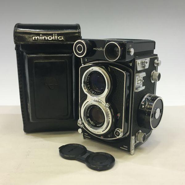 M504-35/SY3000 ミノルタ MINOLTA オートコードⅢ AUTOCORD ROKKOR 1:3.5 f=75mm 《ケース付》★中古カメラ ニ眼