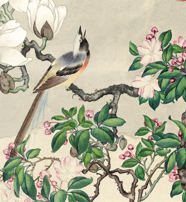 曲兆麟【白玉斗方図】美術品 中国美術 中国書画家 掛軸 掛け軸 希少品 サイズ:52cm X 56cm_画像3