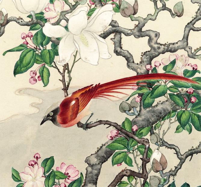 曲兆麟【白玉斗方図】美術品 中国美術 中国書画家 掛軸 掛け軸 希少品 サイズ:52cm X 56cm_画像2