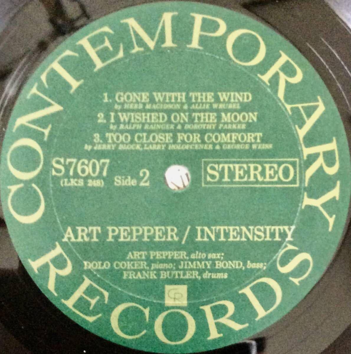 【米CONTEMPORARY】Art Pepper/ Intensity 両面D3 深緑レーベル アート・ペッパー_画像5