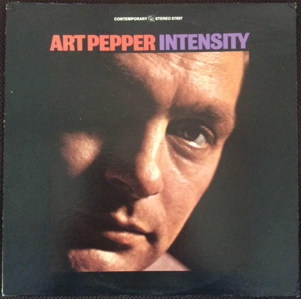 【米CONTEMPORARY】Art Pepper/ Intensity 両面D3 深緑レーベル アート・ペッパー