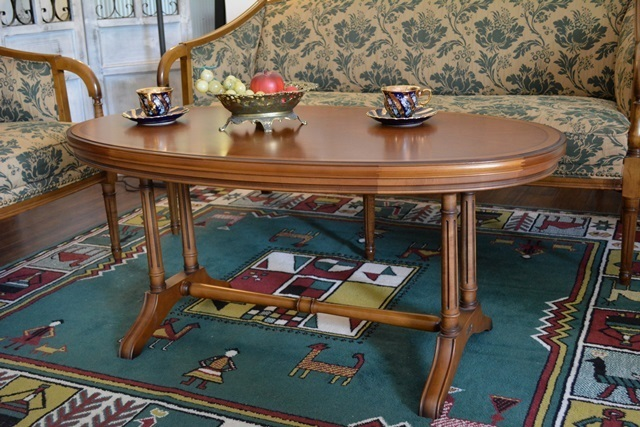1999r24 THE NATIONL TRUST ENGLANDマルニ家具ダイニングセット(二人掛けソファ×シングル×テーブル)落ち着いた雰囲気のクラッシック家具_画像8