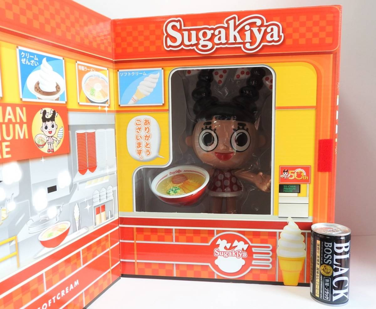 . pre .... Hsu Chan premium figure doll [ total height approximately 35.] present selection notification paper raw .50 anniversary festival sgakiya ramen not for sale prize