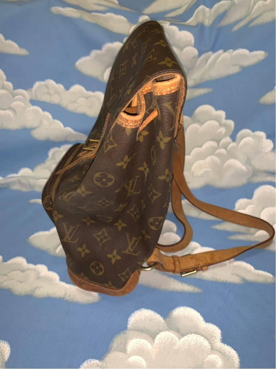 LOUIS VUITTON ルイ・ヴィトン モノグラム モンスリ MM M51136リュックサック 中古品_画像2