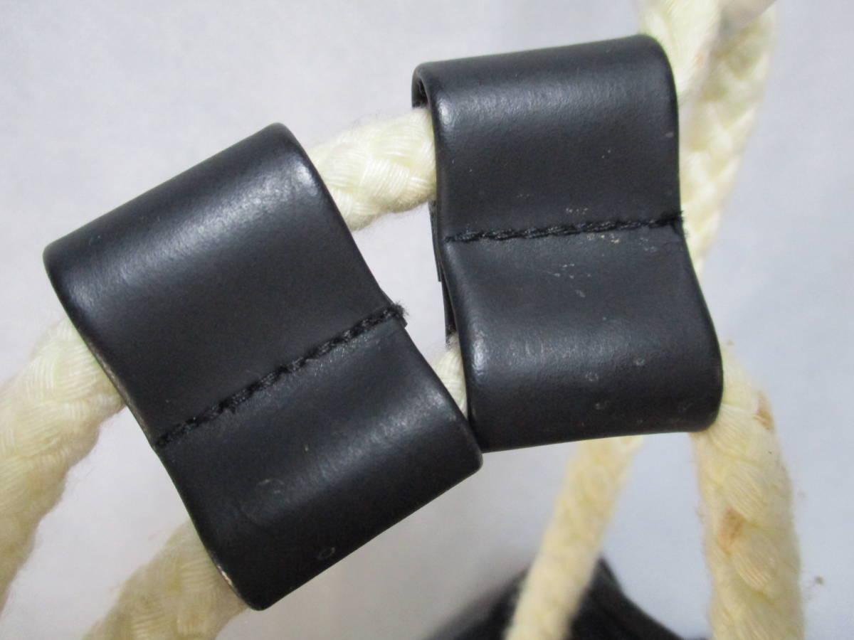 (0405box)CHANEL シャネル 布製バックパック・ワンショルダー 底円形 内部ビニール素材 ユースド 使用感あり_画像5
