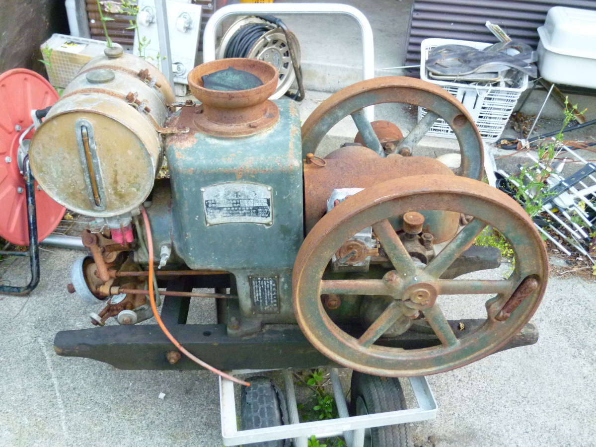 クボタ 発動機 4,5馬力 レトロ 旧式 博物館