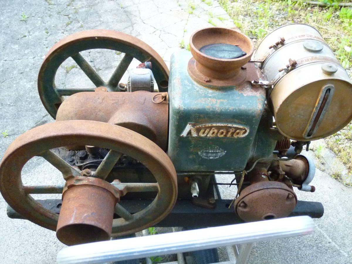 クボタ 発動機 4,5馬力 レトロ 旧式 博物館_画像2