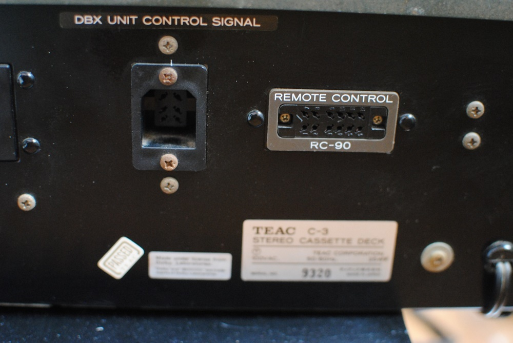 TEAC(テアック)3ヘッドカセットデッキC-3 中古品 _画像7