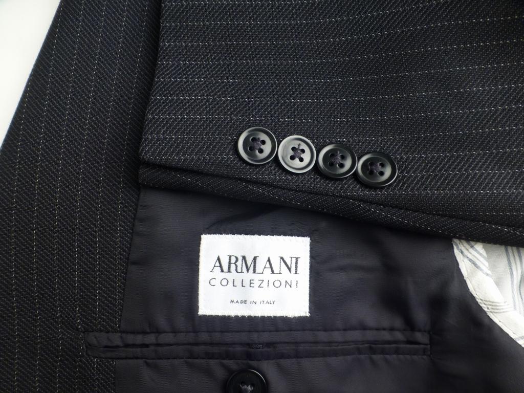 ◆ARMANI アルマーニ スーツ 170やや恰幅良 美品 グレーストライプ_画像2
