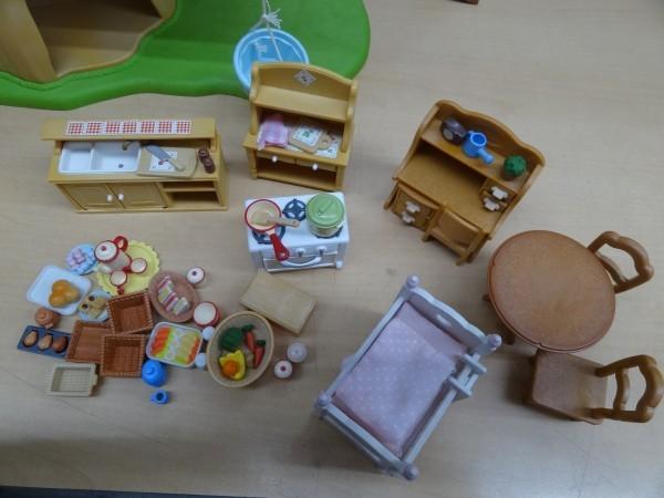 シルバニアファミリー にぎやかツリーハウス & キッチンセット & 2段ベッド_画像5