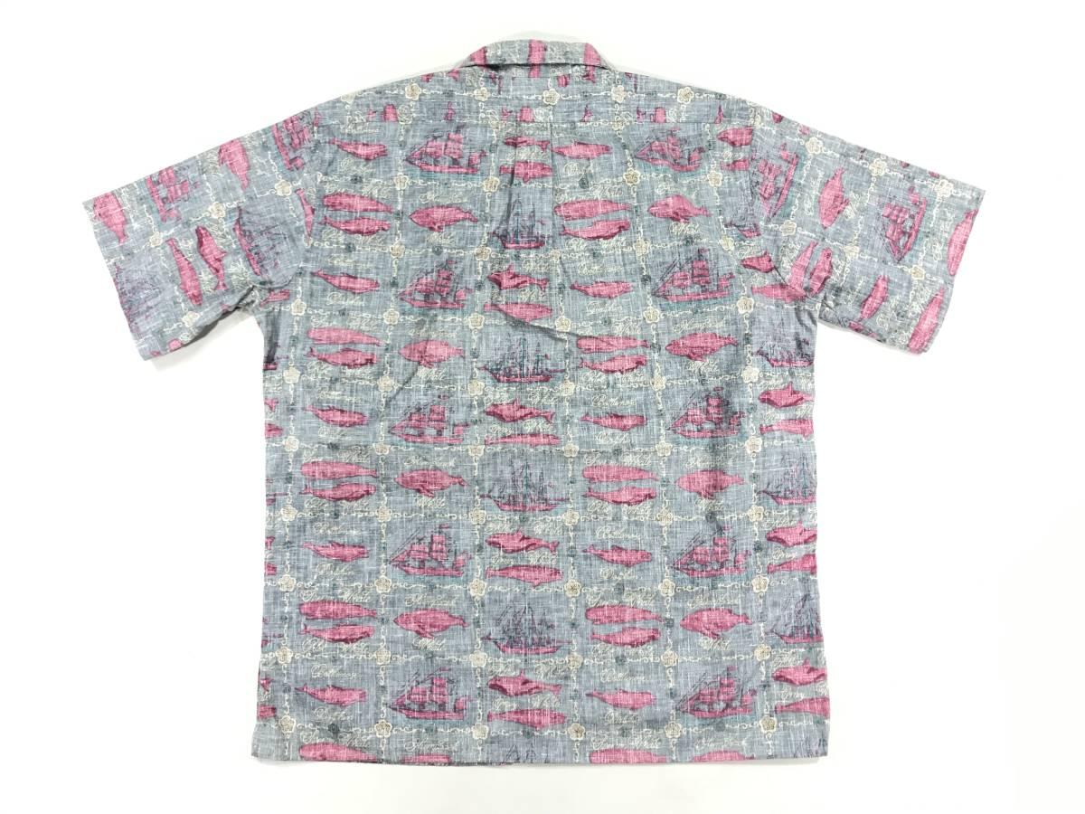 古着 reyn spooner 15807 Lサイズ 半袖 シャツ ハワイアン hawaii 柄 アウトドア キャンプ アロハ レインスプーナー プルオーバー_画像5