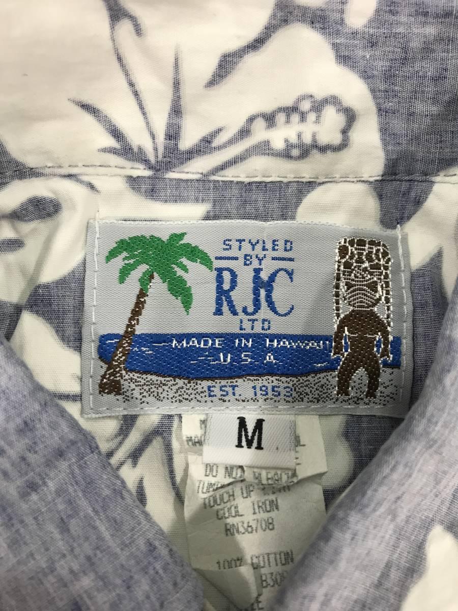 古着 15801 RJC 半袖 アロハ シャツ サーフィン サーフ ハワイアン hawaii 柄 アウトドア キャンプ プルオーバー ビンテージ _画像3