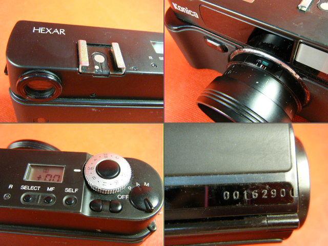 Aぬ48▲Konica HEXAR LENS 35mm F2.0 高級コニカ コンパクトカメラ_画像8