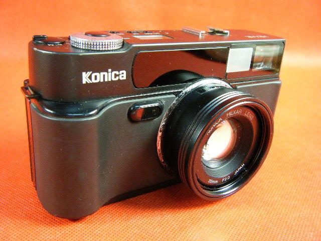 Aぬ48▲Konica HEXAR LENS 35mm F2.0 高級コニカ コンパクトカメラ
