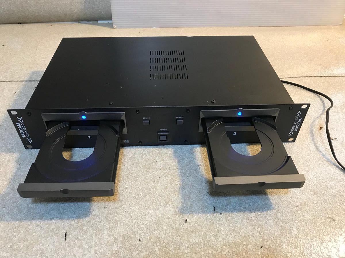 P1653. *TASCAM* デュアルCD/ DJ-CDプレーヤー 、CD-X1500 、電源問題なし!_画像4