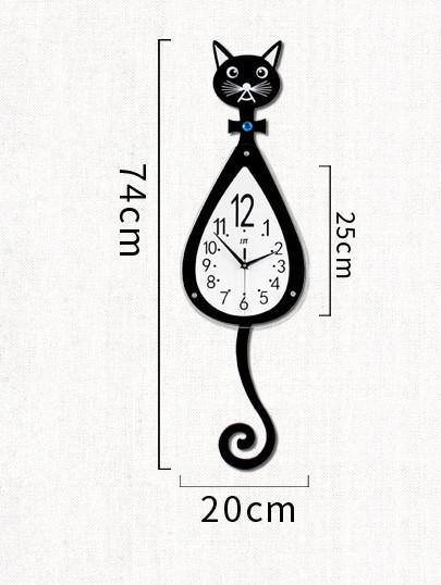 猫 柱時計 新作 人気 可愛い 新品 壁掛け時計 多機能 おしゃれ_画像2