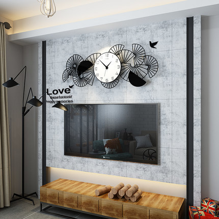 新作!壁掛け時計 リビングルーム ファッション時計 ヨーロッパ式 サイズ 74 x 29.5cm_画像2