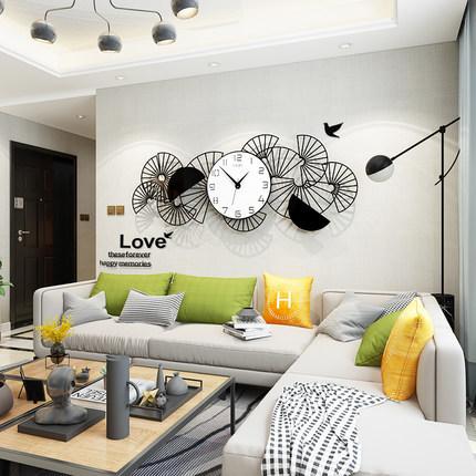 新作!壁掛け時計 リビングルーム ファッション時計 ヨーロッパ式 サイズ 74 x 29.5cm_画像4