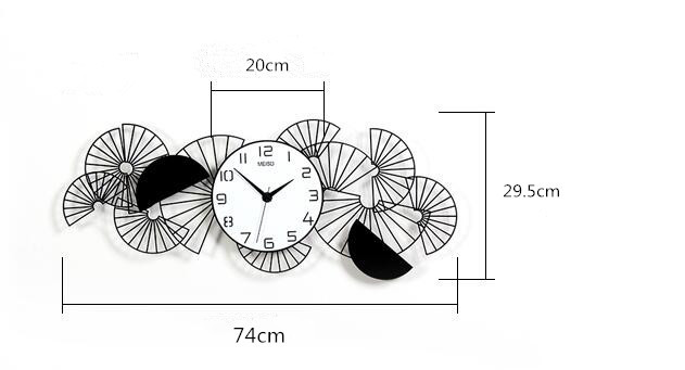 新作!壁掛け時計 リビングルーム ファッション時計 ヨーロッパ式 サイズ 74 x 29.5cm_画像6