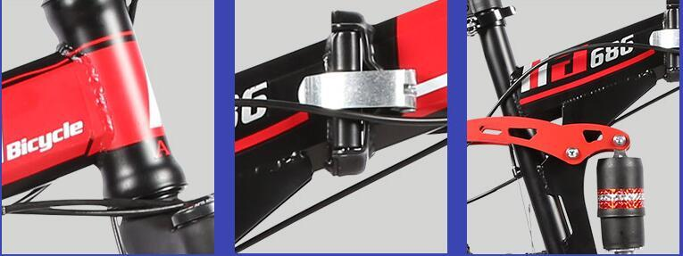 ファットバイク マウンテンバイク 折りたたみ 自転車 太いタイヤ 21段変速 26インチ ブラック_画像3