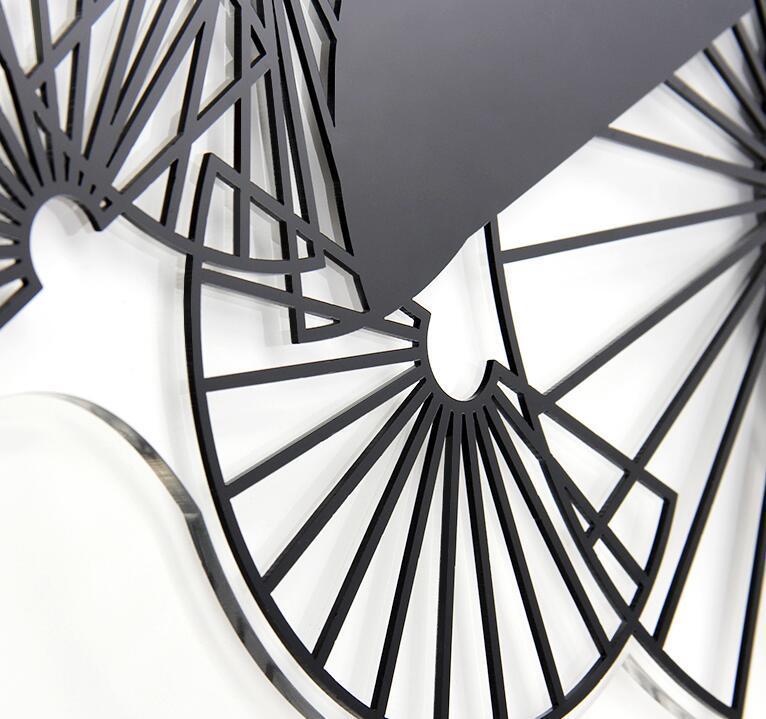 新作!壁掛け時計 リビングルーム ファッション時計 ヨーロッパ式 サイズ 74 x 29.5cm_画像5