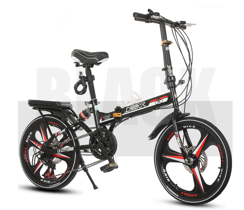 高級仕様 折りたたみ 自転車★ファットバイク マウンテンバイク★20インチ★ディスクブレーキ 通勤 便利 16kg