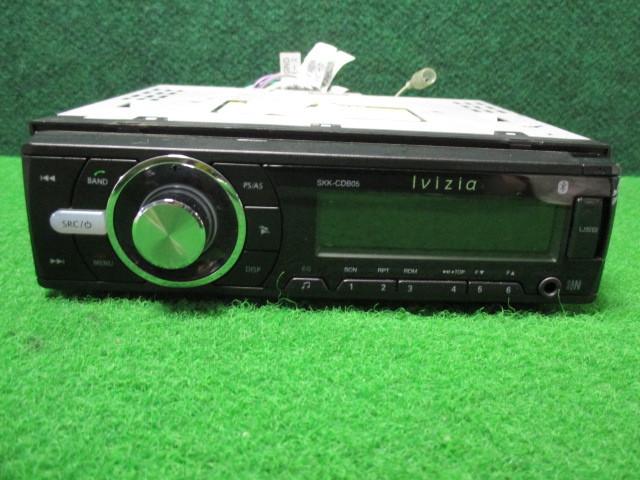 #2906 Ivizia/イノベイティブ CDプレーヤー SKK-CDB05 【Bluetooth接続/MP3・WMA対応/フロントUSB/ハンズフリー】