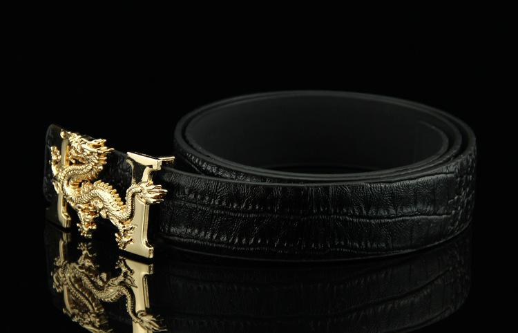 【1円スタート!最落無し】天然ワニ革クロコダイル レザーベルト ブラック サイズ選択可 _画像3