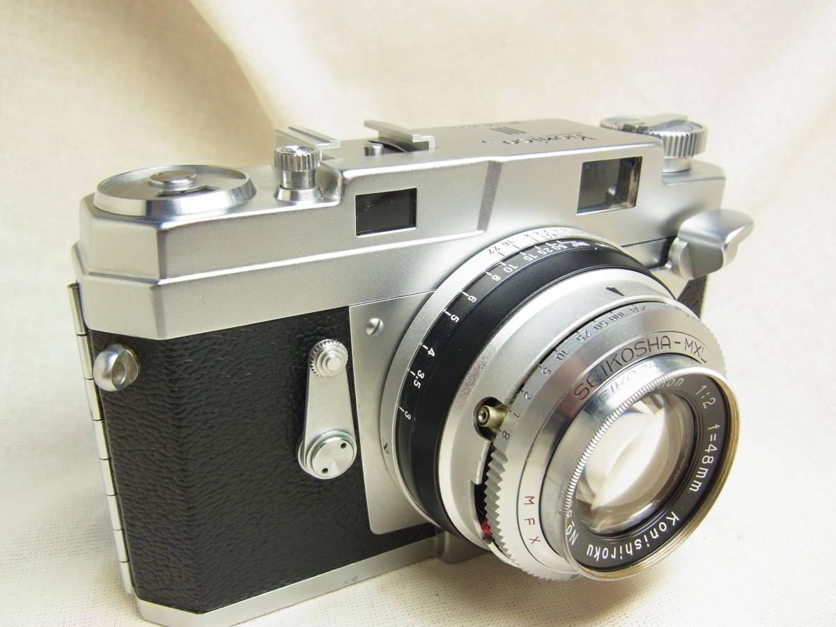 コニカ Ⅲ Konishiroku Hexanon 1:2 f=48mm 動作確認済み 使用感のない美品です。