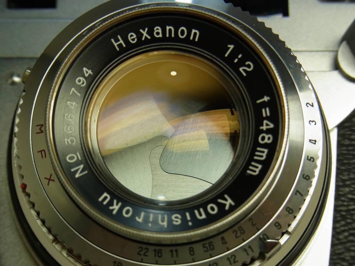 コニカ Ⅲ Konishiroku Hexanon 1:2 f=48mm 動作確認済み 使用感のない美品です。_画像8