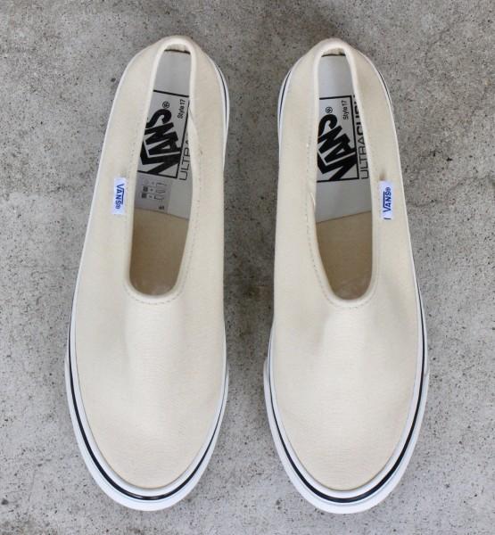 【USA購入 正規新品】VANSバンズ 23.5cm アナハイムファクトリー STYLE17 スタイル17 デラックス ホワイト ビンテージ 靴シューズ☆9c29_画像1